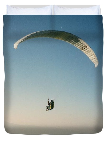 Duvet Cover featuring the photograph suvol du lac d'Annecy by Marc Philippe Joly