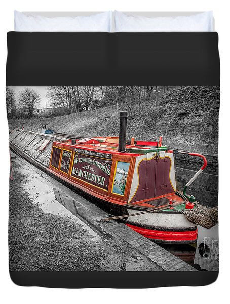 Swallow Canal Boat Duvet Cover