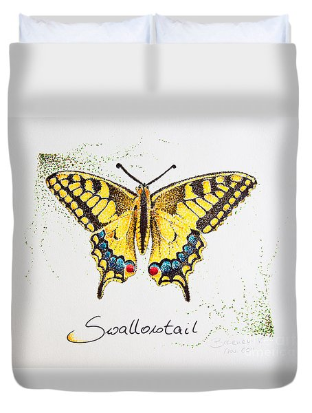 Swallowtail - Butterfly Duvet Cover by Katharina Filus