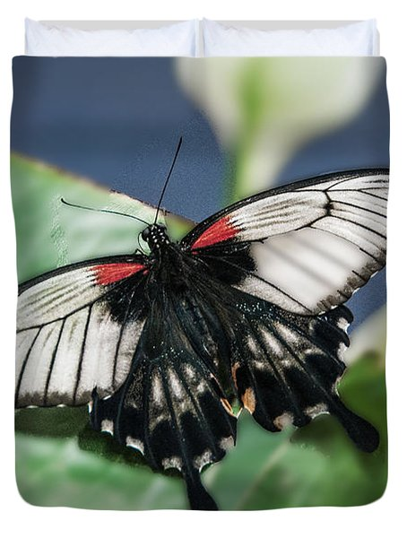 Duvet Cover featuring the digital art Swallowtail Butterfly by Mae Wertz