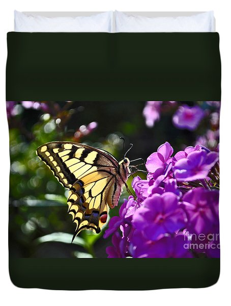 Swallowtail On A Flower Duvet Cover
