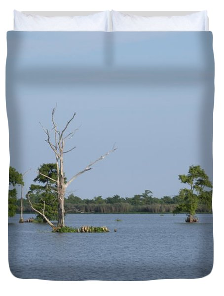 Duvet Cover featuring the photograph Swamp Cypress Trees by Joseph Baril