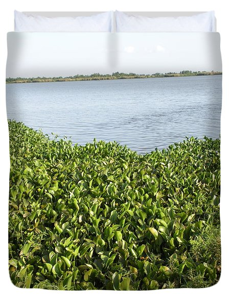 Duvet Cover featuring the photograph Swamp Hyacinths Water Lillies by Joseph Baril