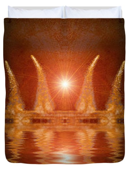Swamp King Duvet Cover by WB Johnston