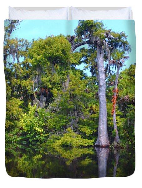 Swamp Land Duvet Cover