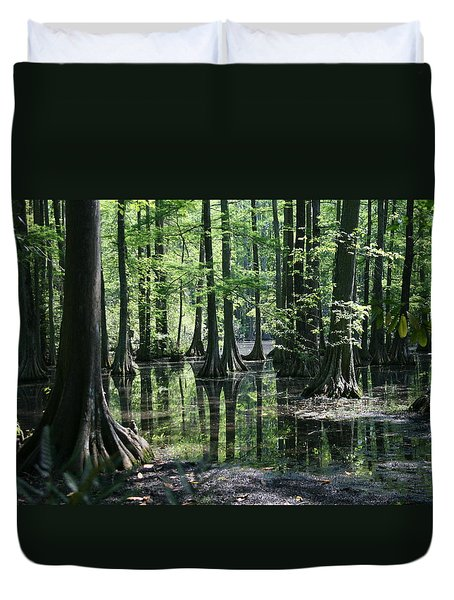 Swamp Land Duvet Cover by Cathy Harper