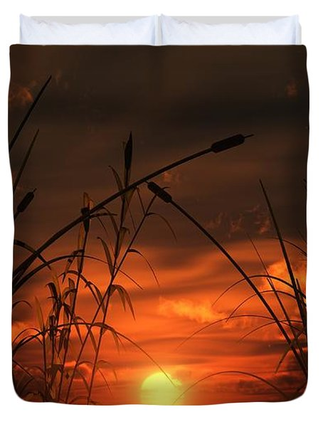 Swamp Sunset  Duvet Cover by Tim Fillingim