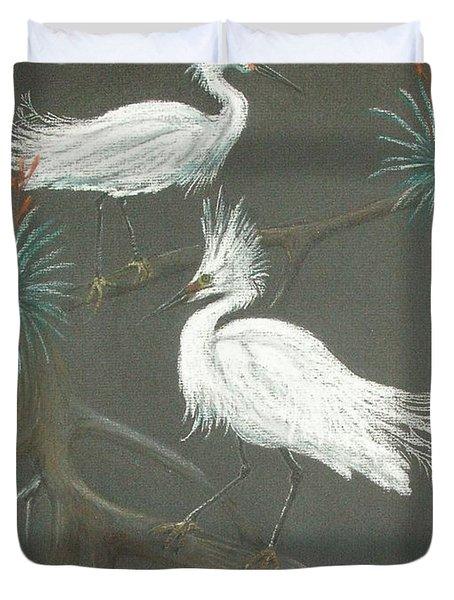 Swampbirds Duvet Cover