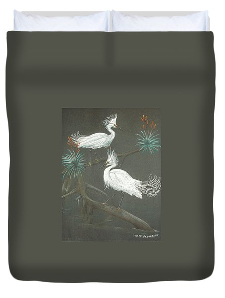 Swampbirds Duvet Cover by Terry Frederick