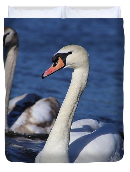 Swan Duo Duvet Cover