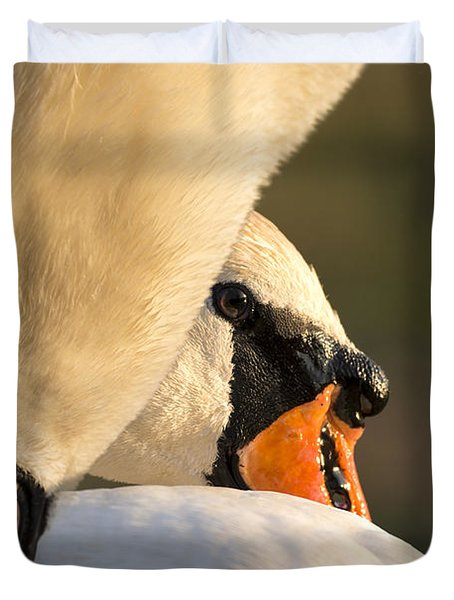 Swan Heads Duvet Cover