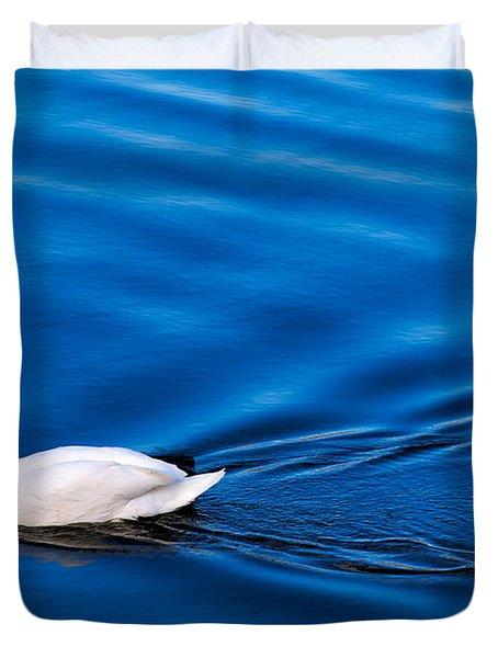 Swan Lake Duvet Cover by Adrian Evans