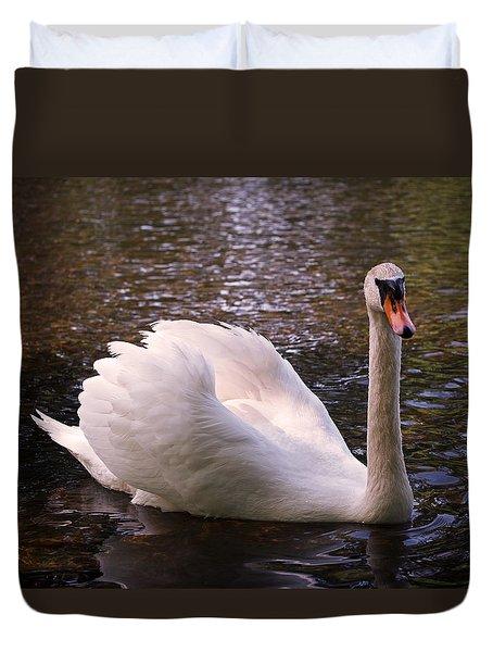 Swan Pose Duvet Cover