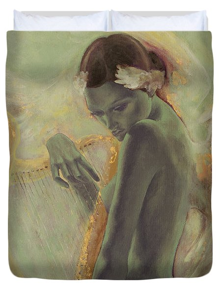 Swan Song Duvet Cover by Dorina  Costras
