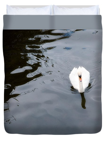 Swan Song Duvet Cover by Rebecca Cozart