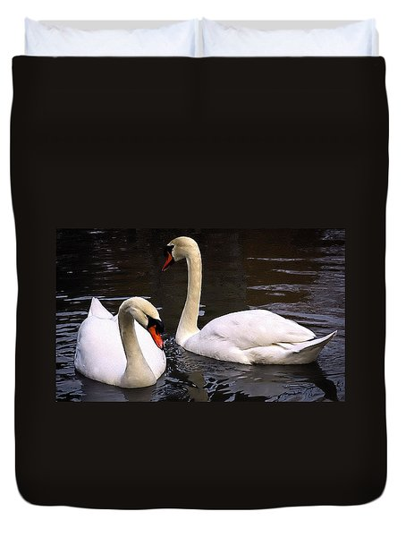 Swan Two Duvet Cover by Elf Evans