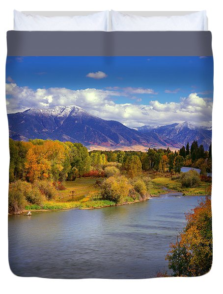 Swan Valley Autumn Duvet Cover