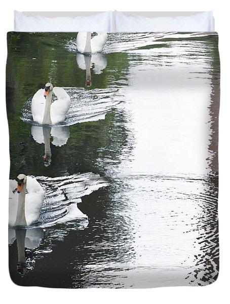 Swans Duvet Cover