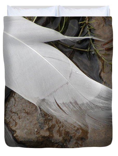 Duvet Cover featuring the photograph Sway With The Movement Of The Water by Tiffany Erdman