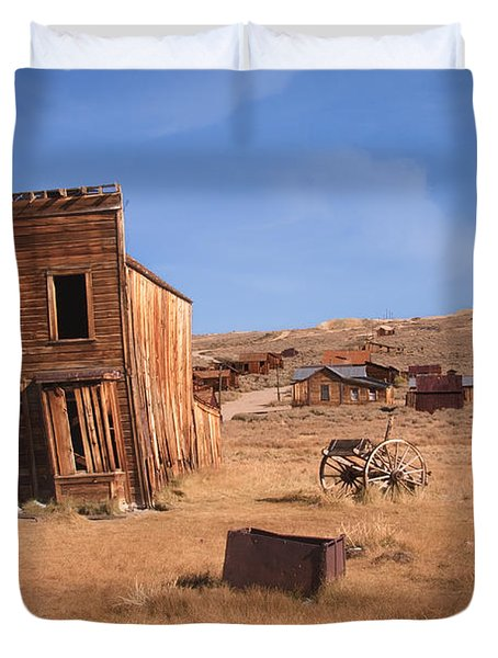Swazey Hotel Bodie Ghost Town Duvet Cover