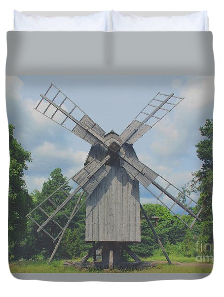 Swedish Old Mill Duvet Cover by Sergey Lukashin