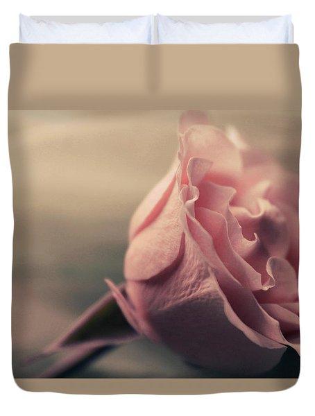 Sweet Blushing Love Duvet Cover