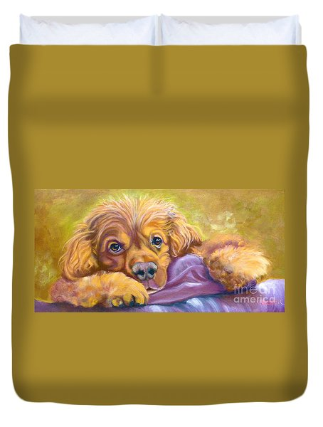 Sweet Boy Rescued Duvet Cover