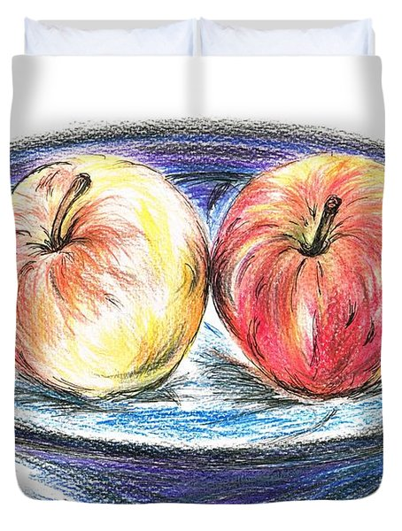 Sweet Crunchy Apples Duvet Cover