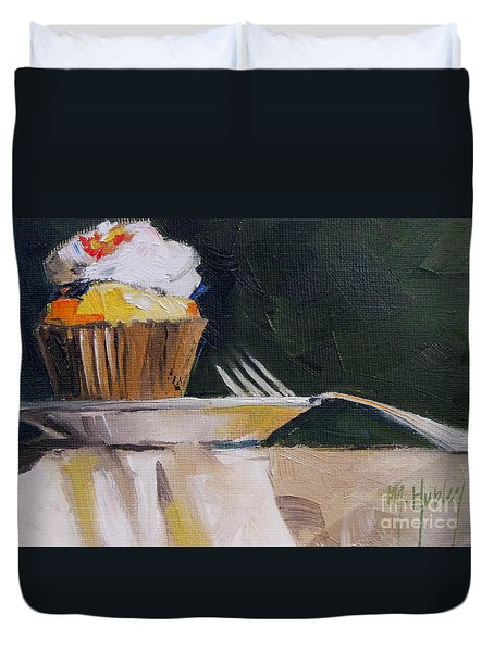 Sweet Cupcake Duvet Cover by Mary Hubley