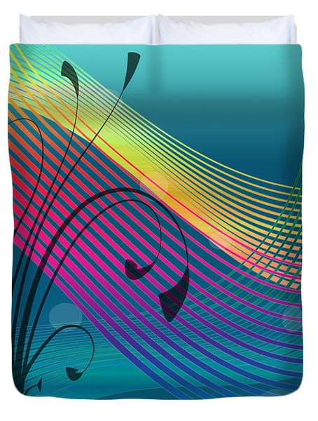 Duvet Cover featuring the digital art Sweet Dreams Abstract by Megan Dirsa-DuBois