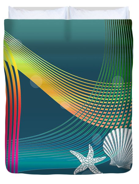Duvet Cover featuring the digital art Sweet Dreams2 Abstract by Megan Dirsa-DuBois