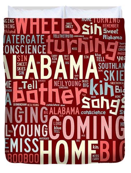 Sweet Home Alabama 4 Duvet Cover