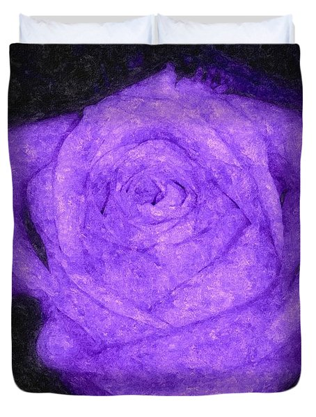 Sweet Lavender Rose Duvet Cover
