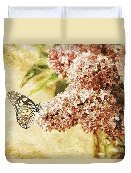 Sweet Lilacs Duvet Cover by Lois Bryan