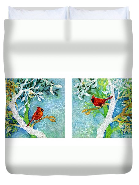 Sweet Memories Diptych Duvet Cover