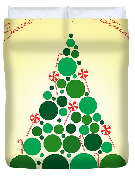 Sweet Merry Christmas Duvet Cover by Mark Ashkenazi