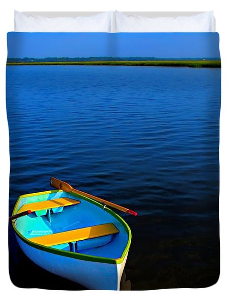 My Sweet Row Boat Duvet Cover by Laura Ragland
