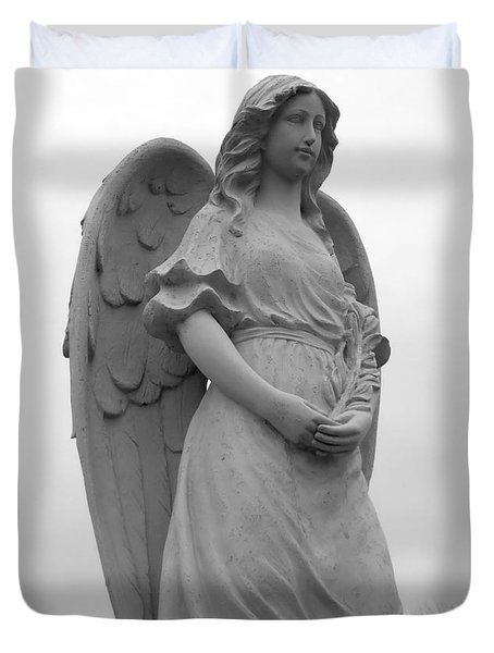 Sweet Seraphim Duvet Cover by Rachel E Moniz