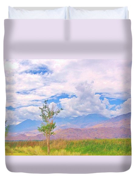 Duvet Cover featuring the photograph Sweet Summertime by Marilyn Diaz