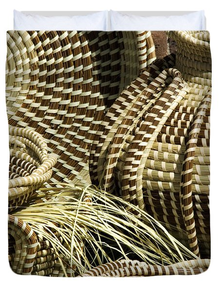 Sweetgrass Baskets - D002362 Duvet Cover by Daniel Dempster