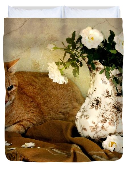 Sweetheart Roses Duvet Cover by Diana Angstadt