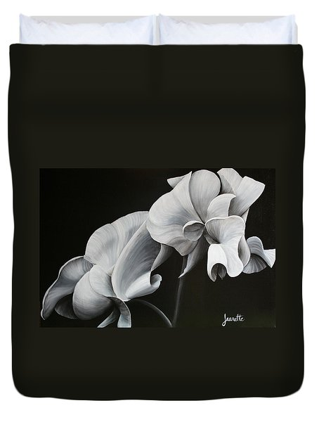 Sweetpea Blossoms Duvet Cover
