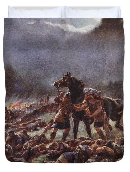 Sweyns Poisoned Army, Illustration Duvet Cover