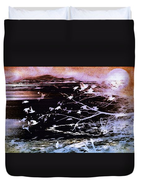 Duvet Cover featuring the photograph Swift by Kathy Bassett