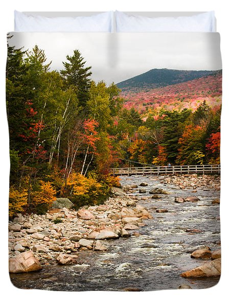 Swift River Painted With Autumns Paint Brush Duvet Cover