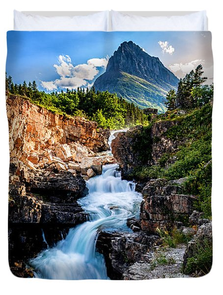 Swiftcurrent Falls Duvet Cover