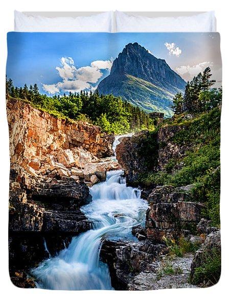 Swiftcurrent Falls Duvet Cover