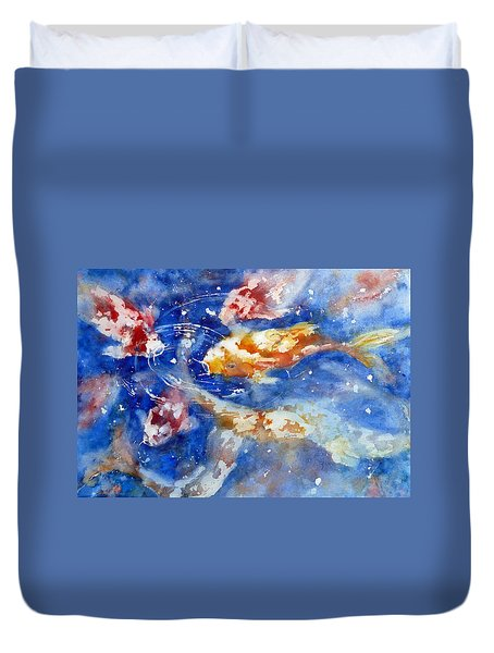Swimming Koi Fish Duvet Cover