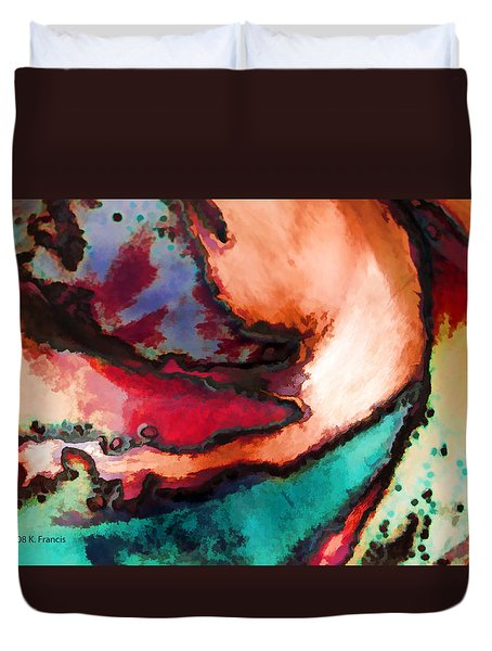 Duvet Cover featuring the photograph Swirl by Kenny Francis