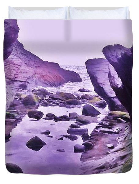 Duvet Cover featuring the photograph Swirl Rocks 2 by John Williams